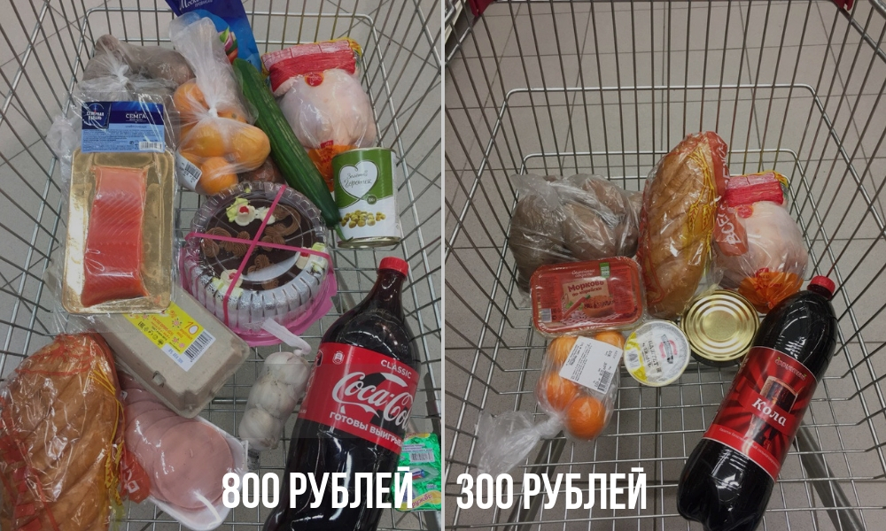 новогодний стол, оливье, крабовый, дешевые продукты, выжить на 500 рублей, набор еды, бюджетная продуктовая корзина