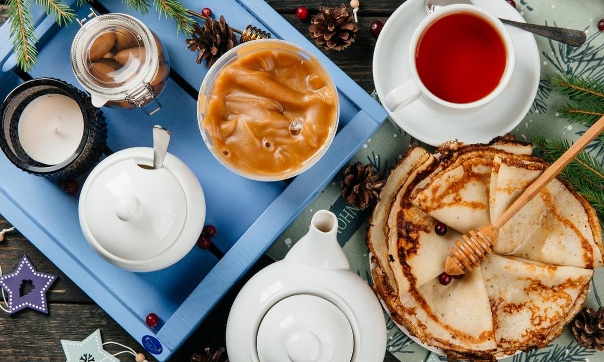 блины, чаепитие, чай, олония, масленица, акция, скидки, купить продукты, магазин, петрозаводск, карелия