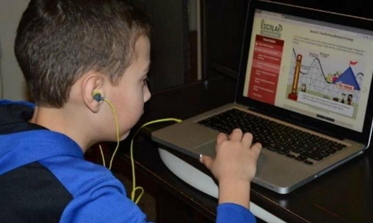 обучение онлайн, школа, ученики