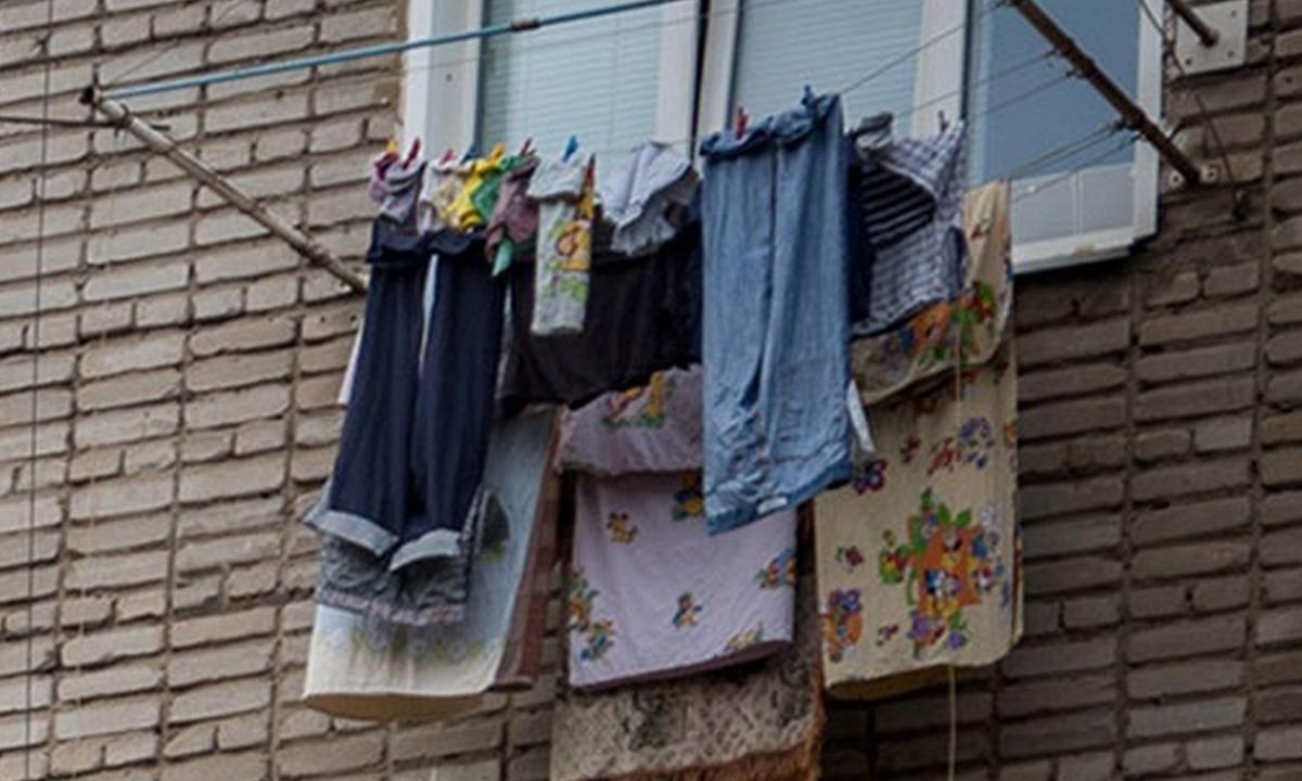 белье, сушится, балкон
