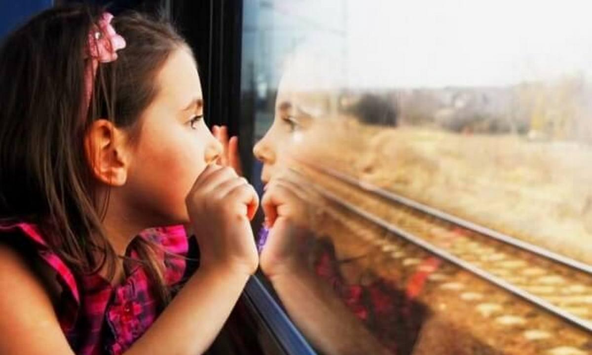 ребенок, поезд, дорога