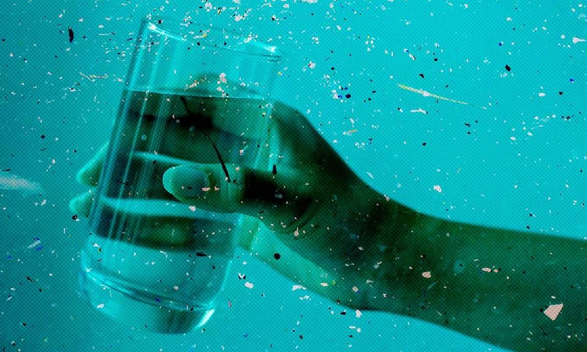 вода, микропластик
