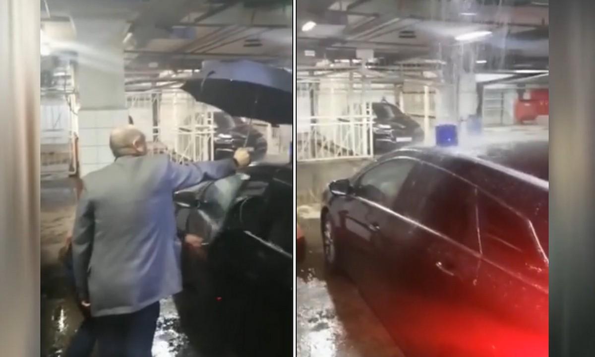 РБК, дождь, зонт
