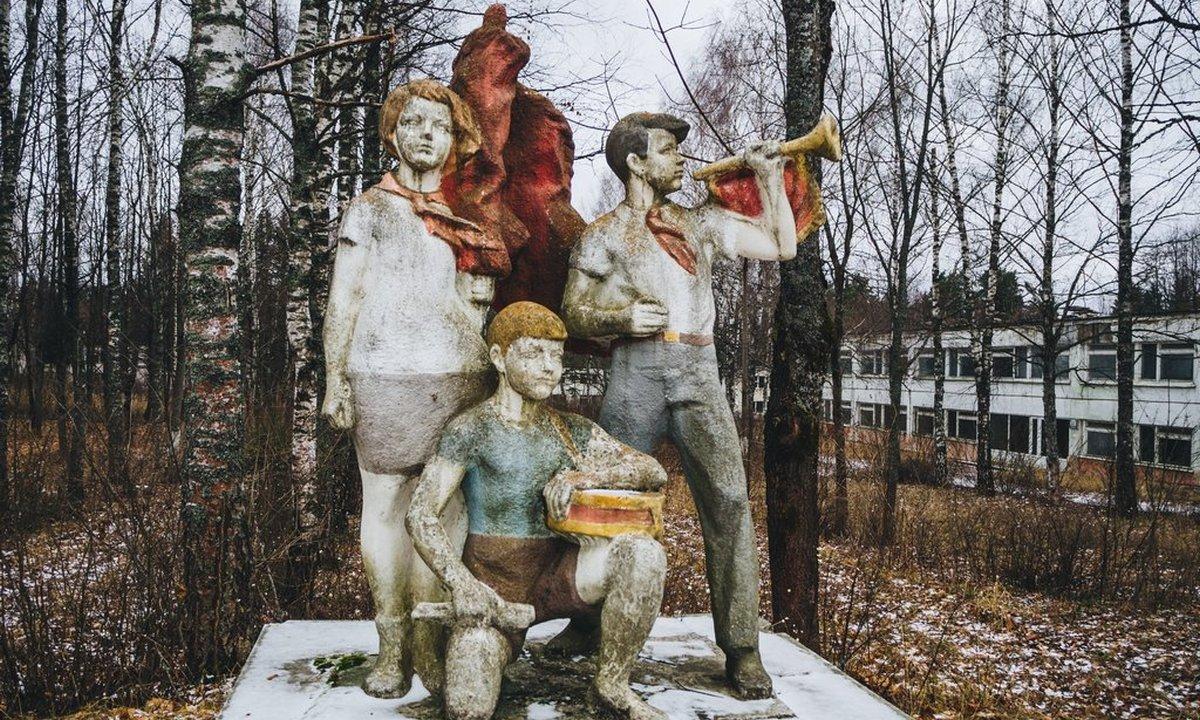 фото, лагерь, скульптура