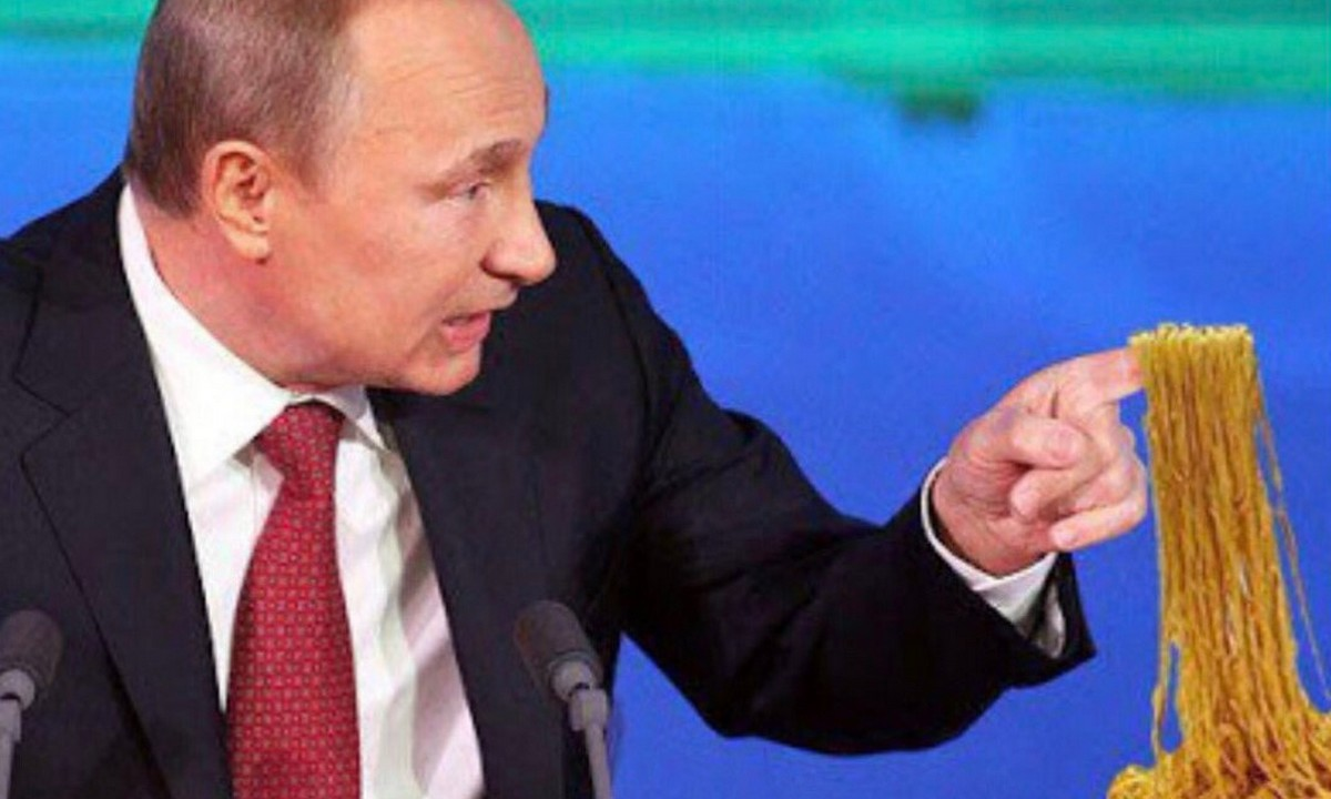 Путин, макароны, повышение цен