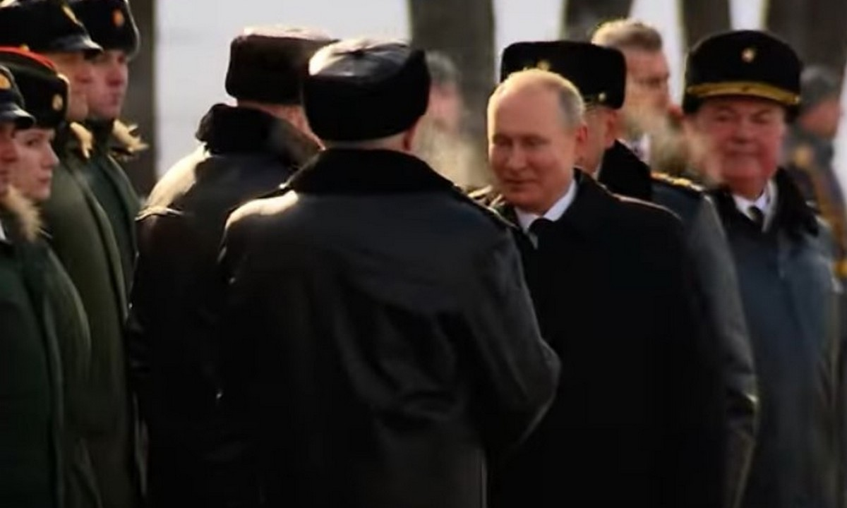 путин, шапка, церемония