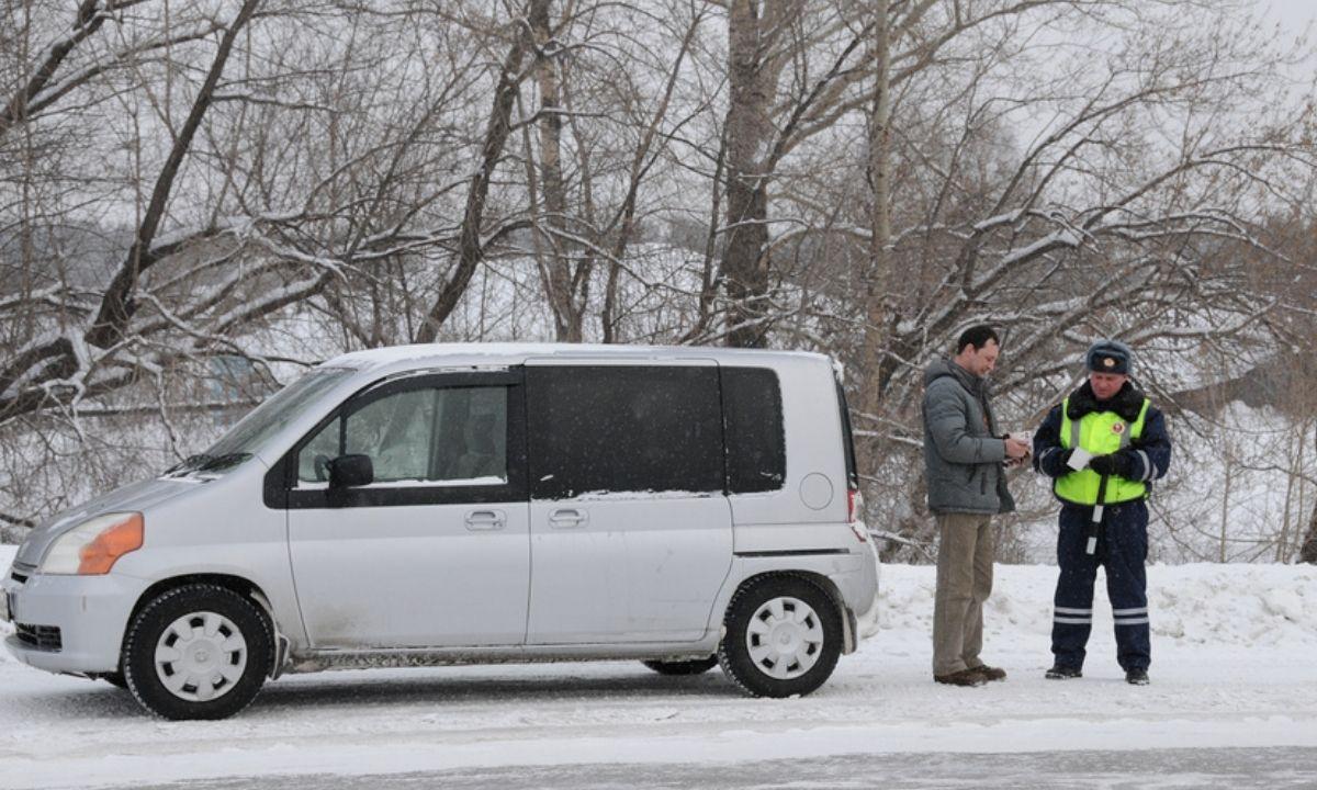 ДПС проверка зимой