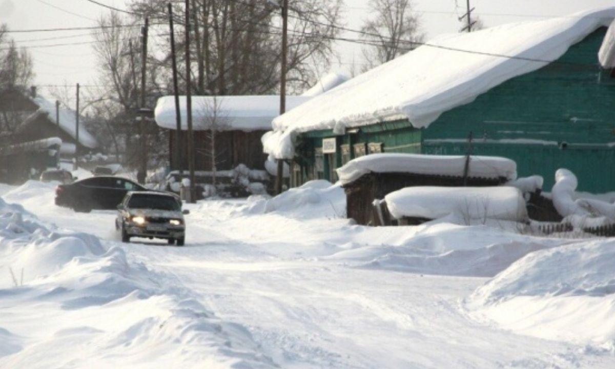 деревня зима