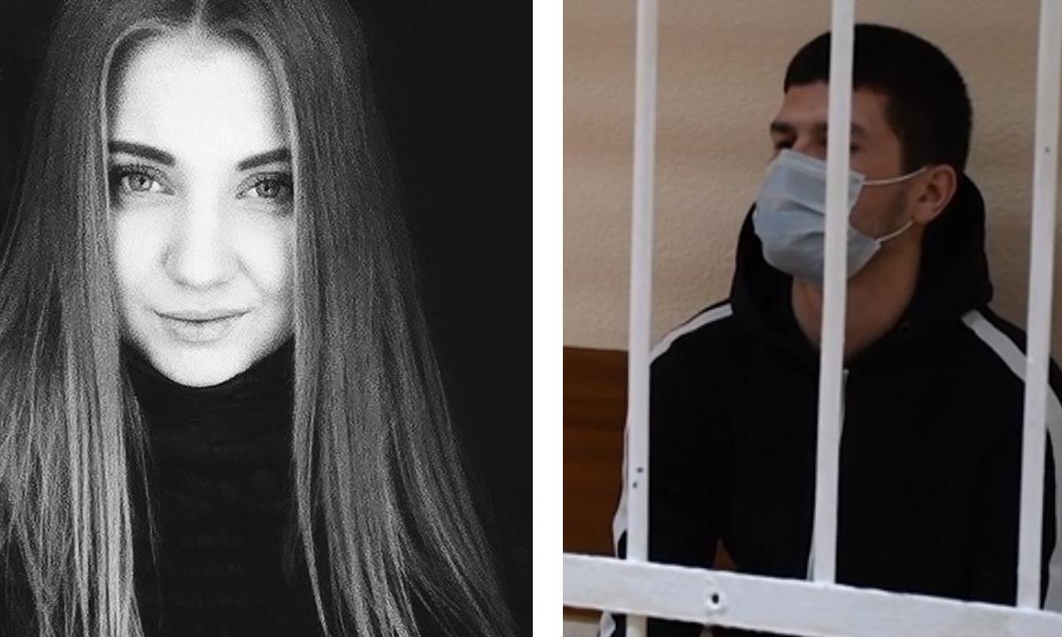 коллаж: слева Вера, справа ее убийца за решеткой