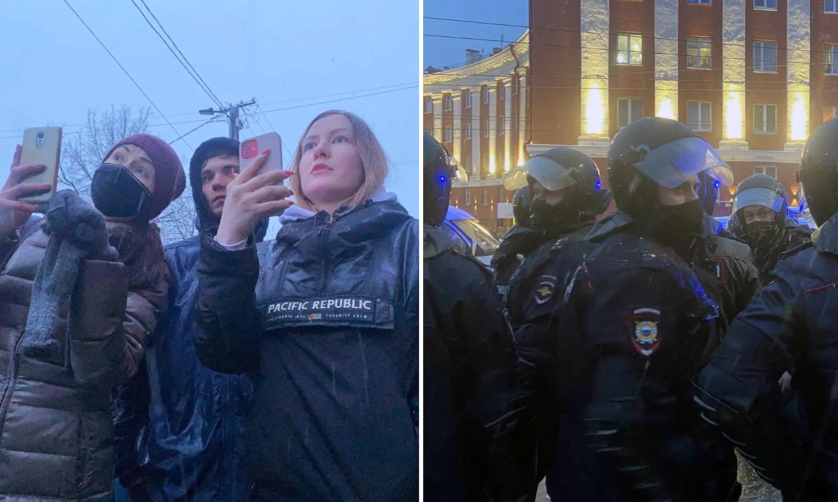 акция в защиту Навального Петрозаводск
