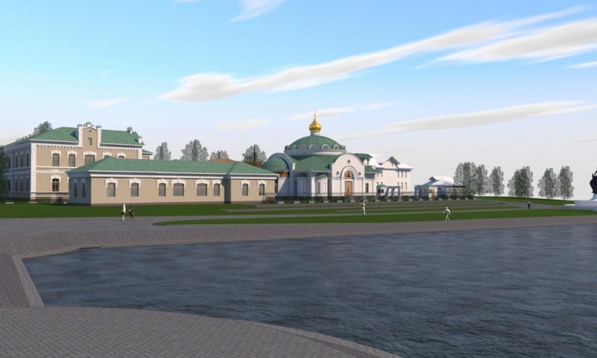 храм на набережной Петрозаводска