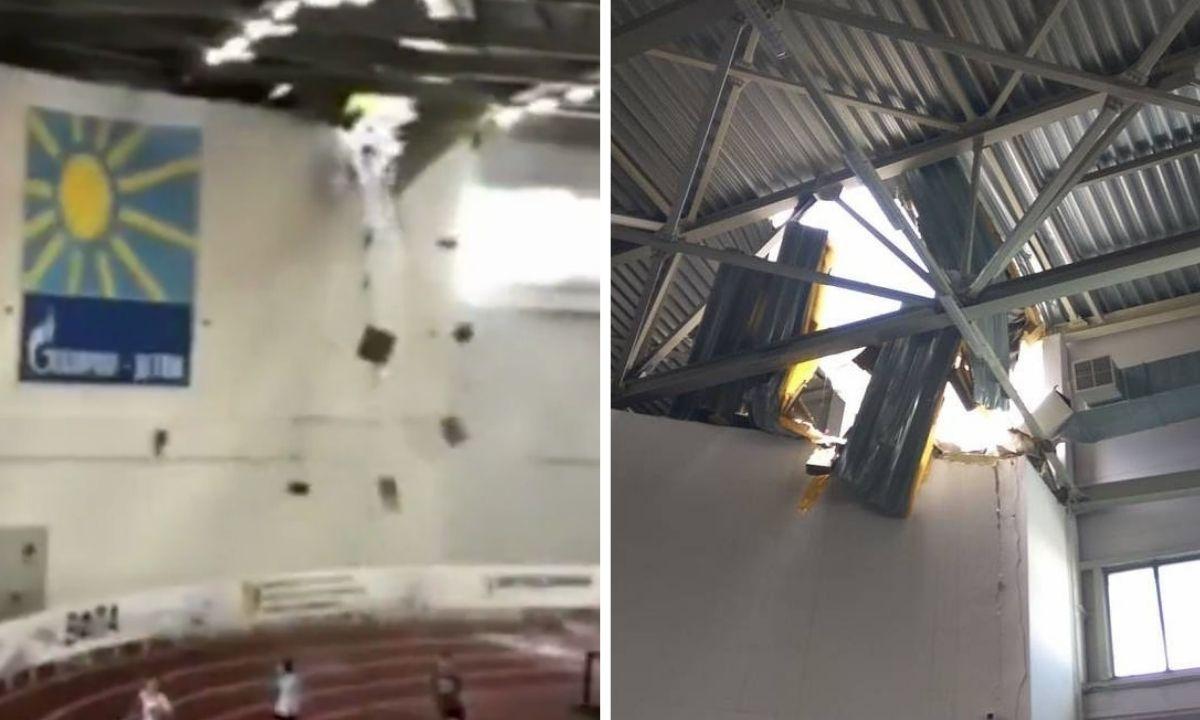 крыша спортивного комплекса обвалилась