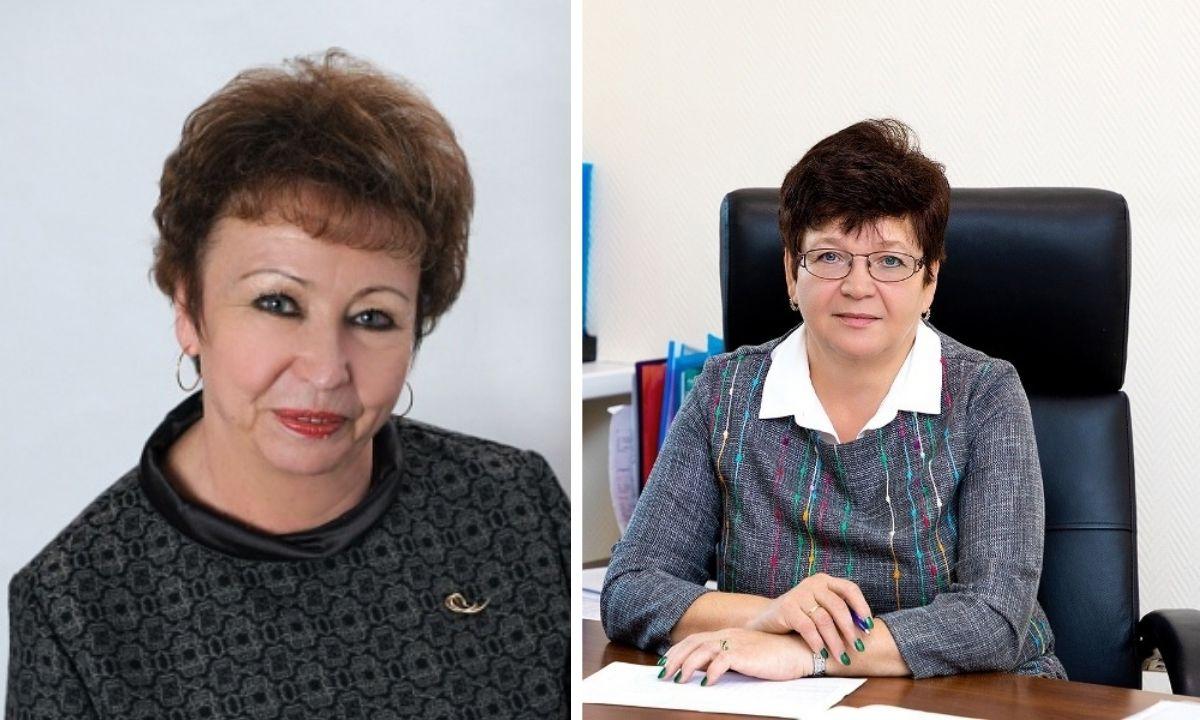 Директор Ломоносовской гимназии Марина Кузнецова и директор Петрозаводского автотранспортного техникума Ирина Кувшинова