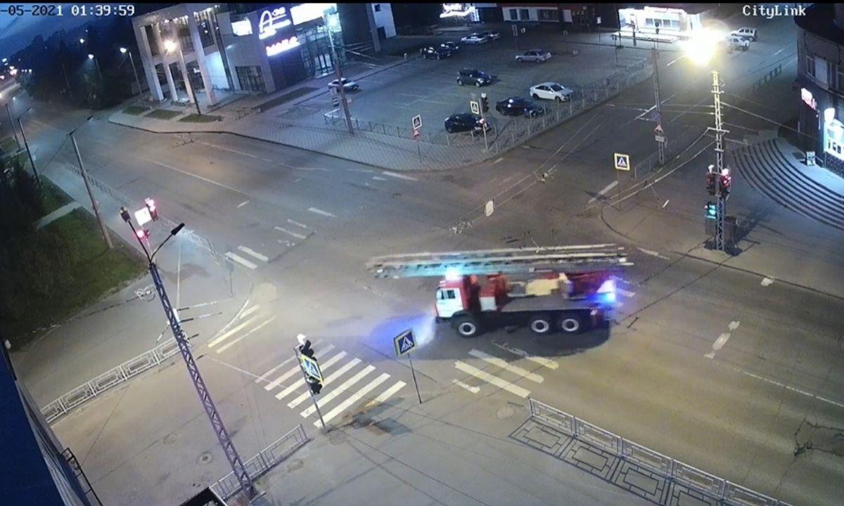пожар на улице Красная в Петрозаводске