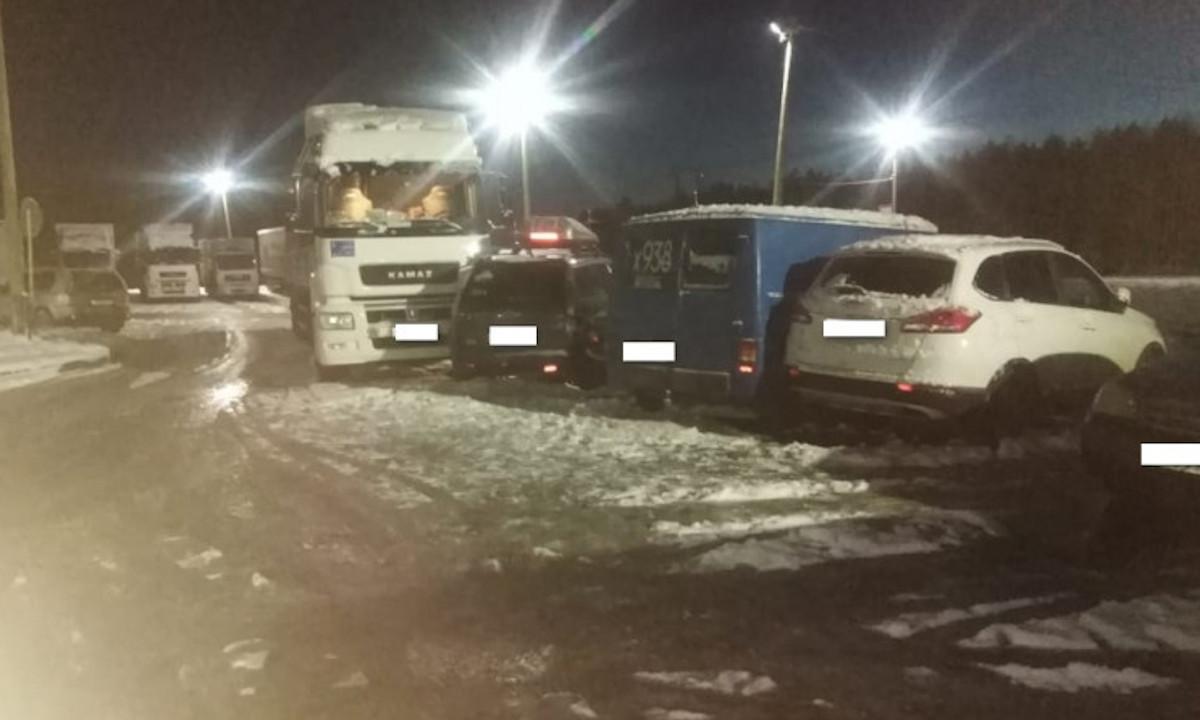 авария с грузовиком в Карелии