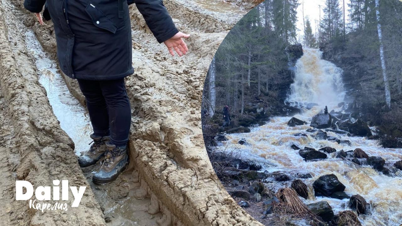 дорога на Белые мосты в Карелии