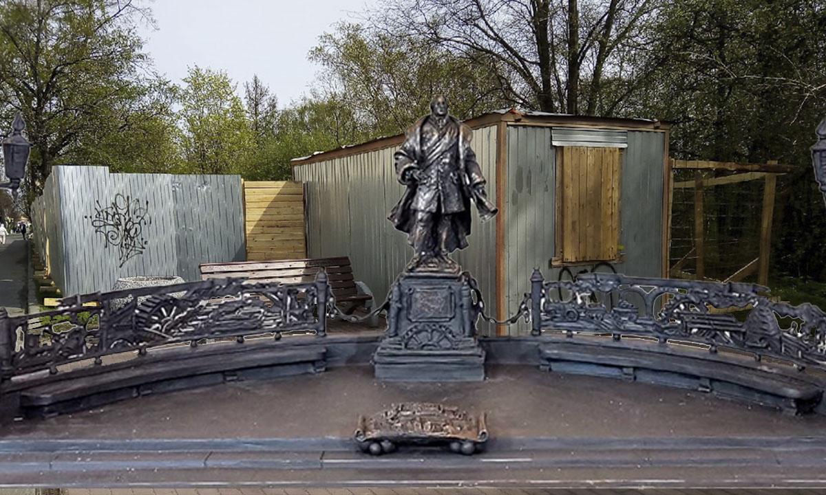 Памятник Гаскойну в Петрозаводcке
