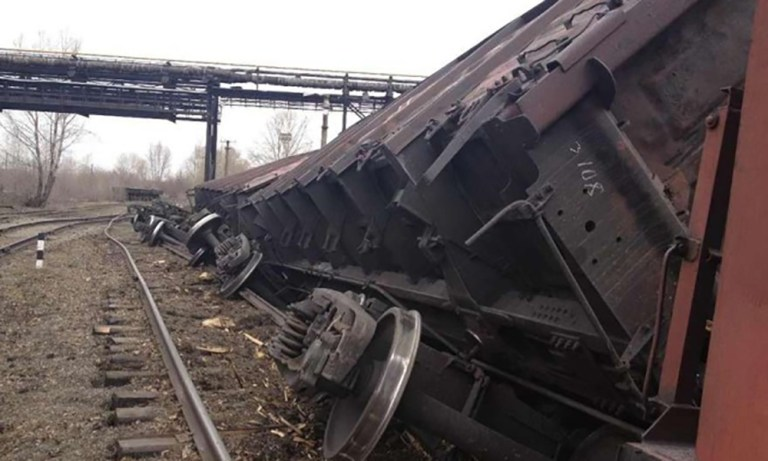 поезд сошел с рельсов