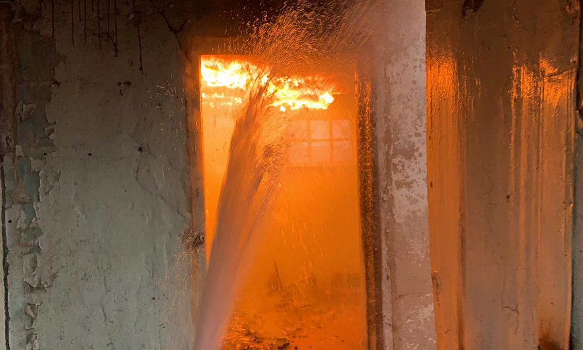 пожар в доме в Петрозаводске