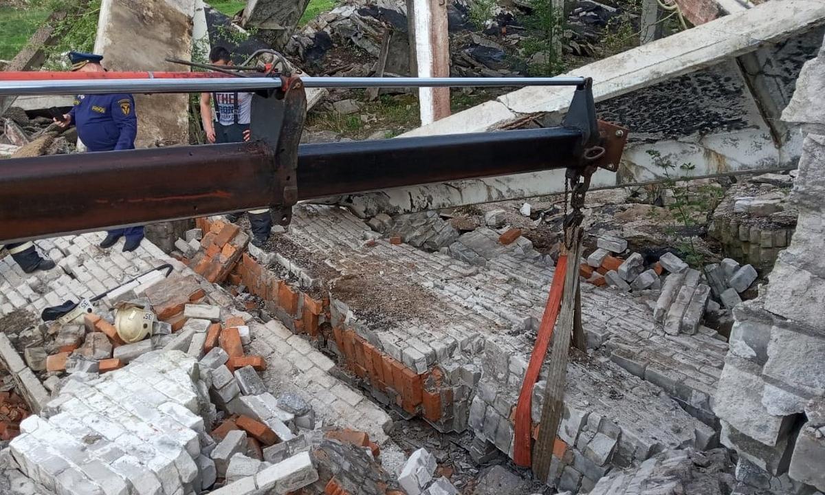 здание обрушилось в Карелии