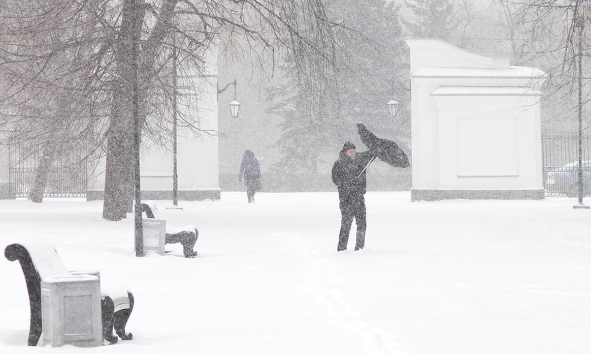 сильный снег в Петрозаводске