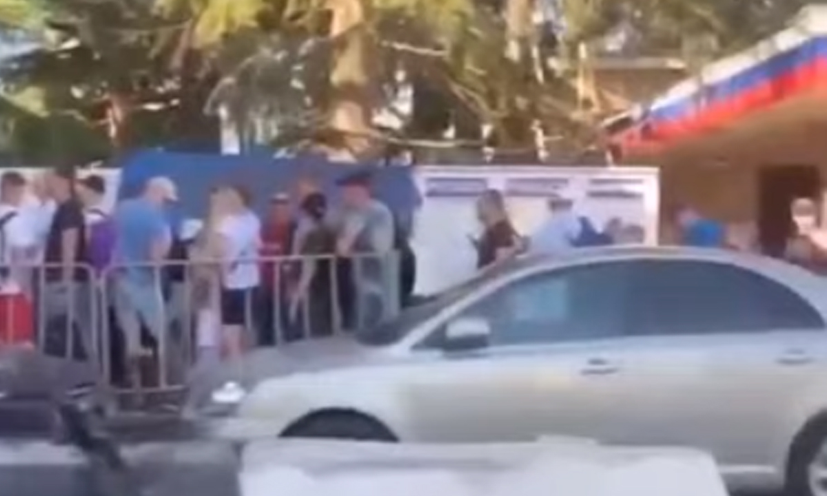 пробка на границе с Абхазией