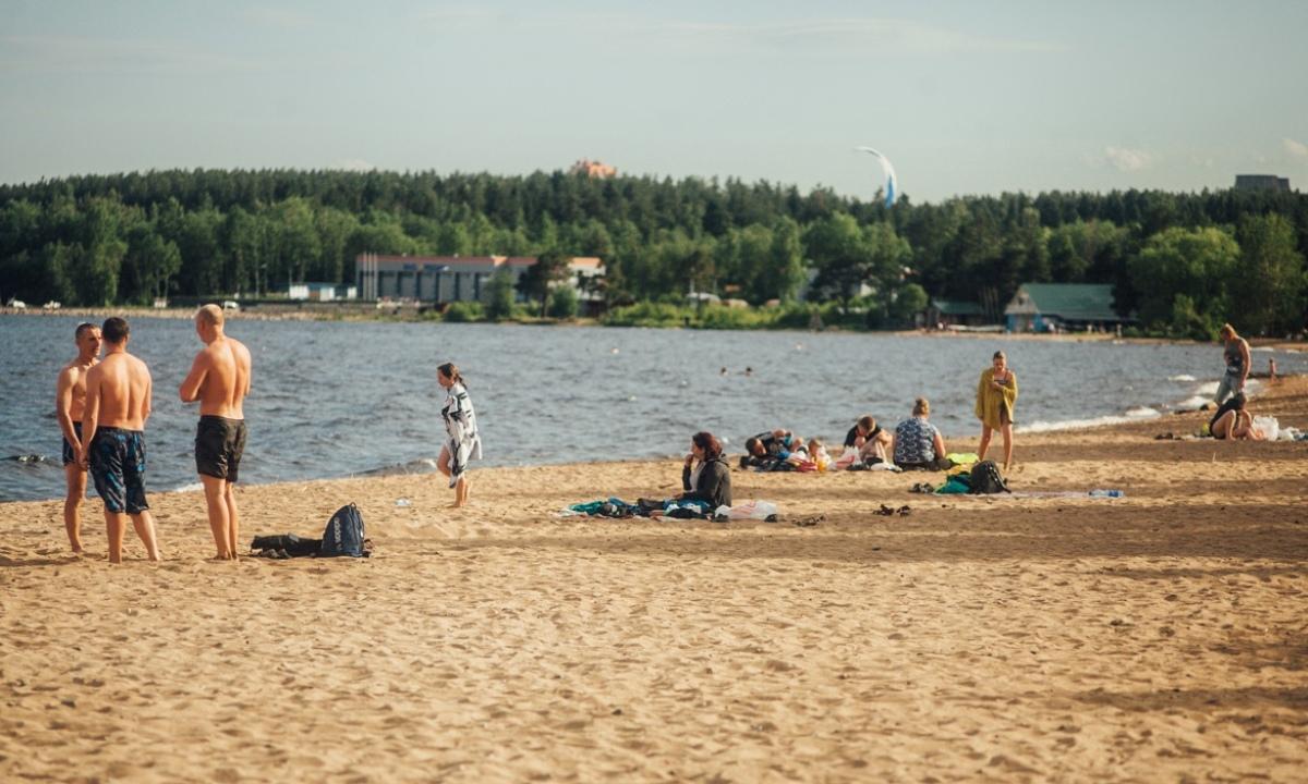 летний пляж в Петрозаводский