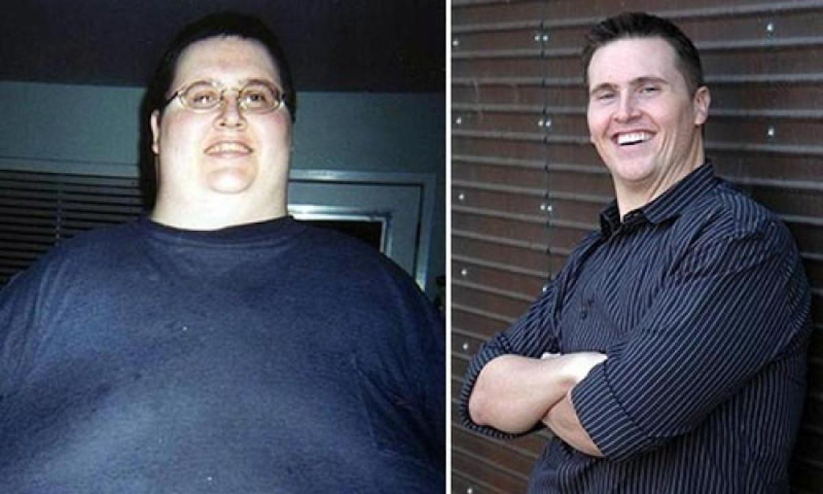 мужчина сильно похудел