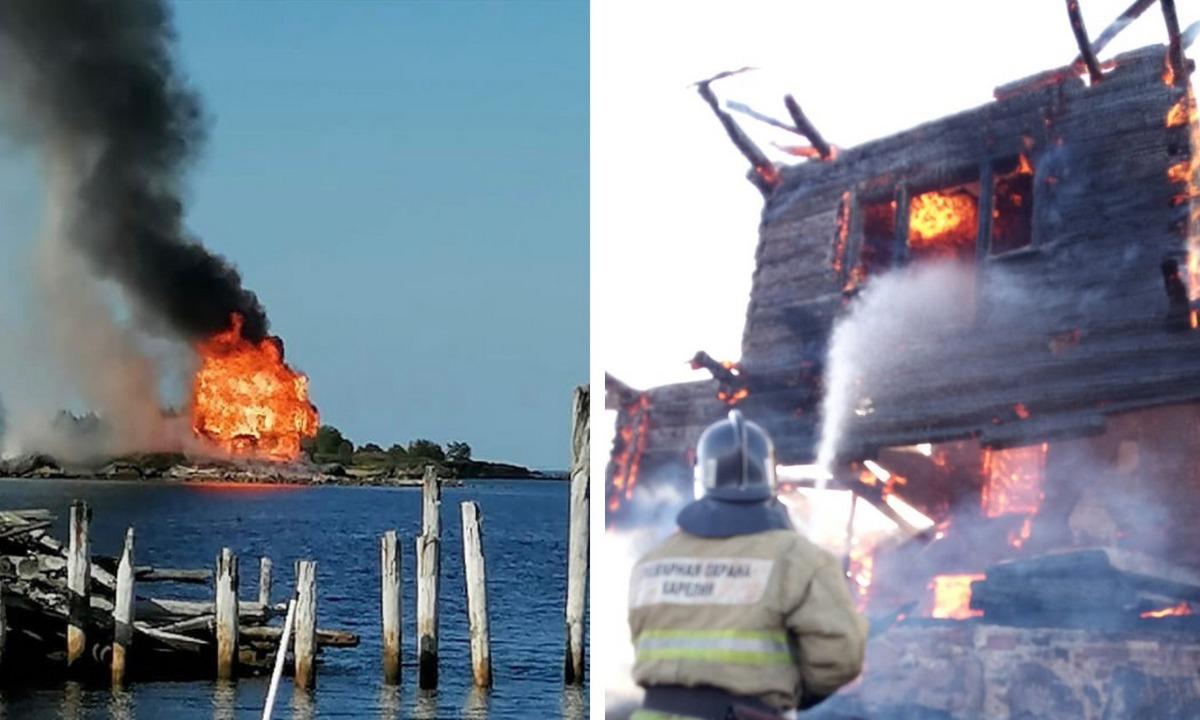 пожар церковь Остров