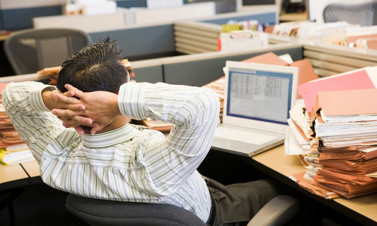 мужчина на работе