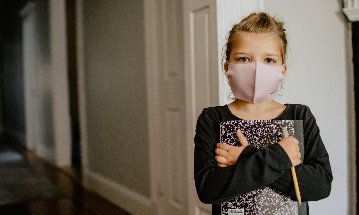 ребенок, маска, школа
