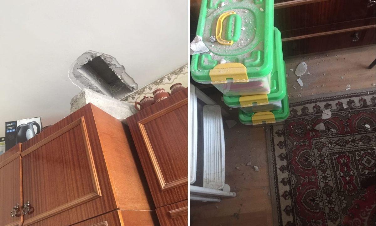 обвалился потолок в квартире