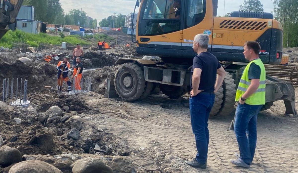 строительство дороги на Куйбышева в Петрозаводске