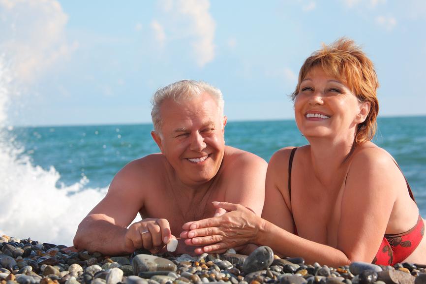 пенсионер у моря