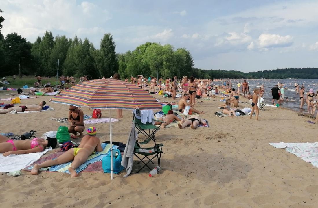 пляж Петрозаводска