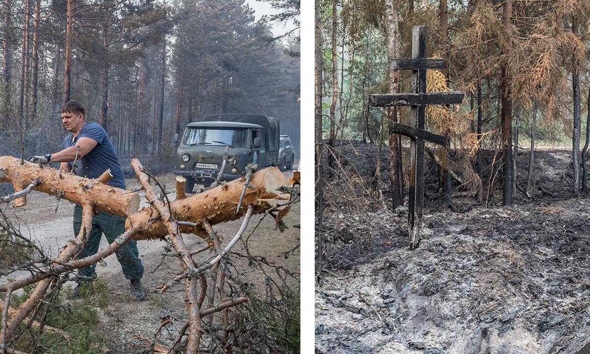 Пожары в Карелии Сясозеро