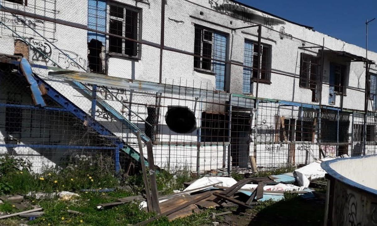 заброшенное здание спортивной школы