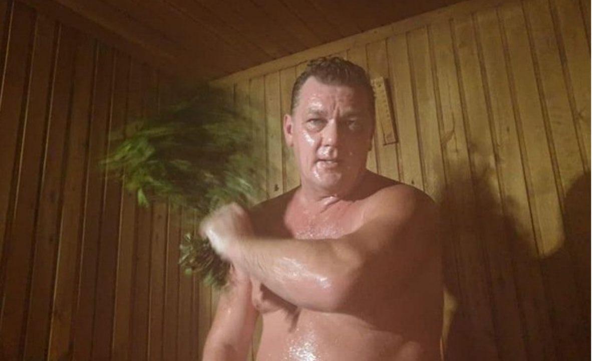 мэр, баня, голый