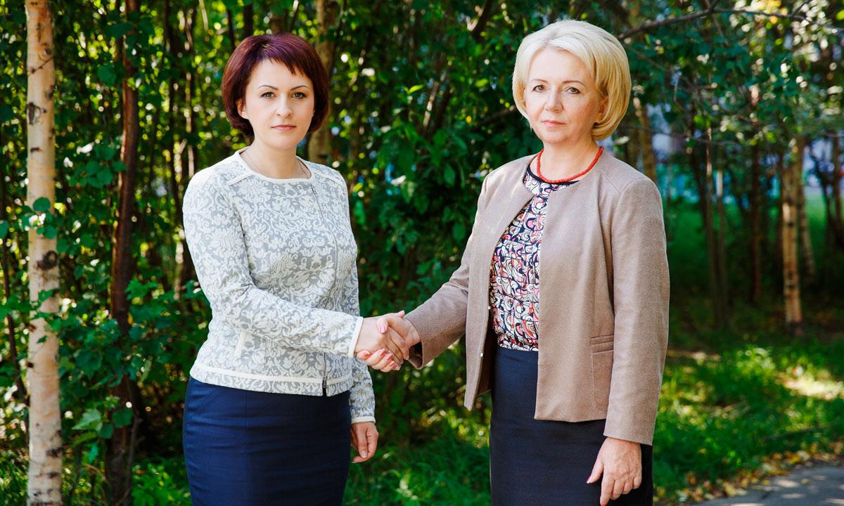 Галина Ширшина и Эмилия Слабунова