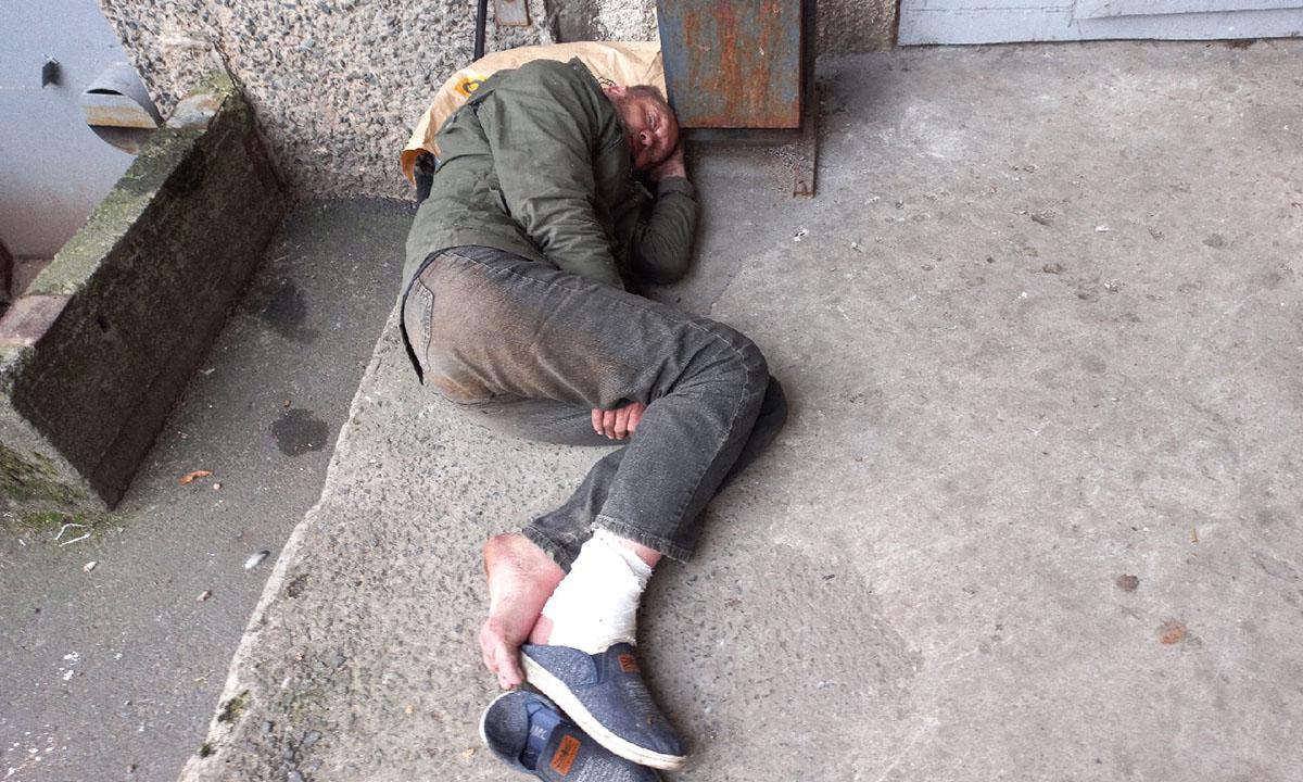 Петрозаводчанка умоляет приютить бездомного, спящего у ее подъезда