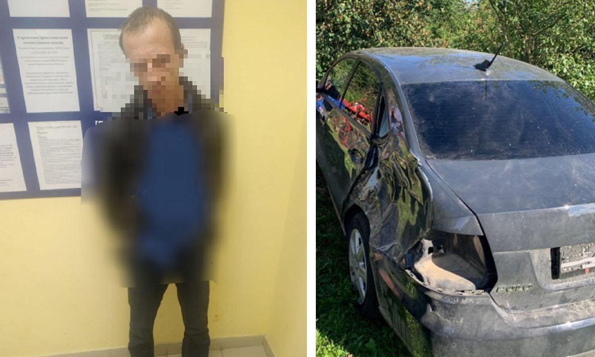 Угонщик автомобилей прятался от полицейских в диване