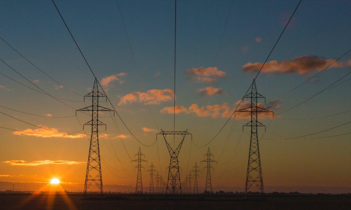 электричество, небо, провода