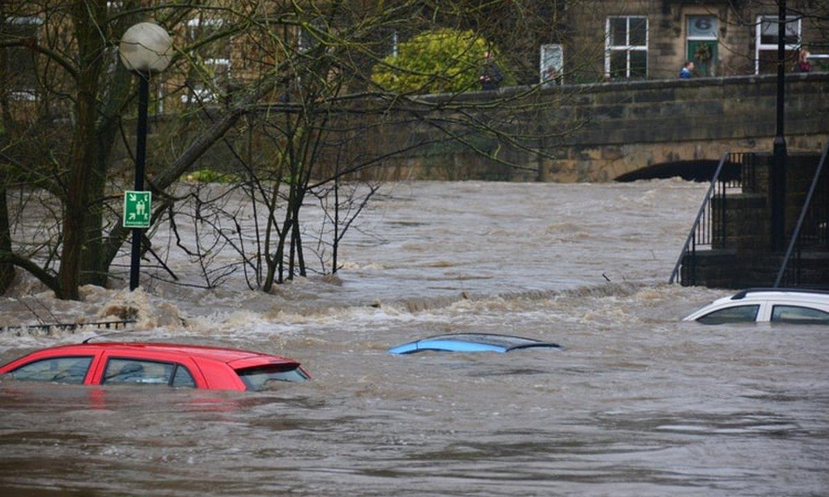 потоп, вода, машины