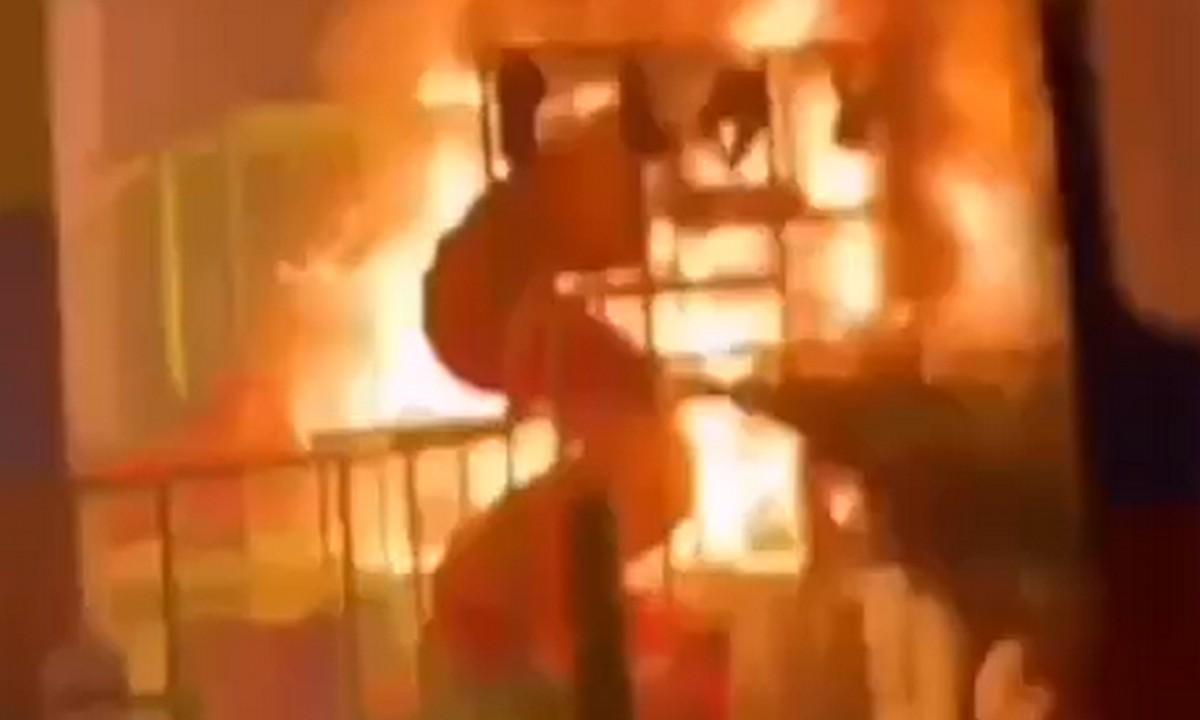 пожар в детском центре