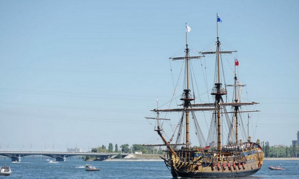 корабль, старинный, Варяг