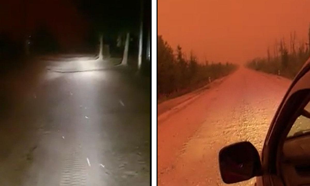 Апокалипсис в Якутии: пепел от лесных пожаров погружает села во тьму