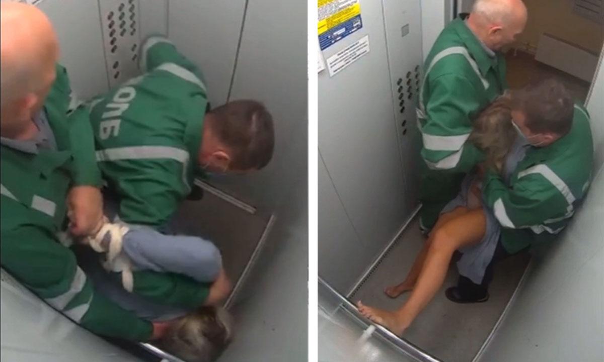 Санитары избили пациентку в лифте