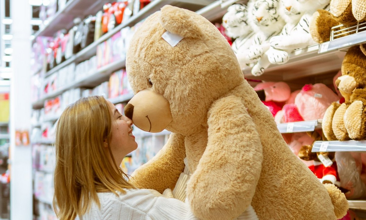 плюшевый, медведь, магазин