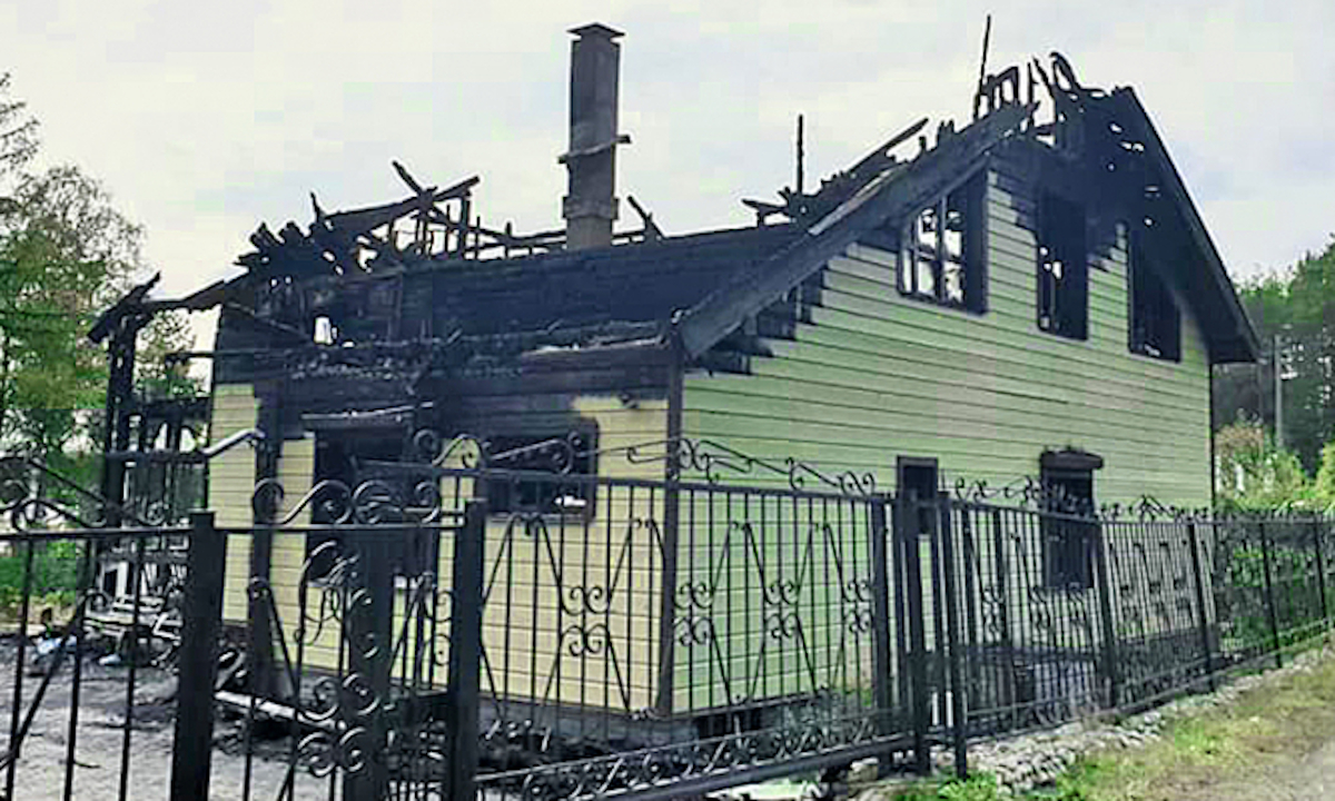 дом артура мяки сгорел