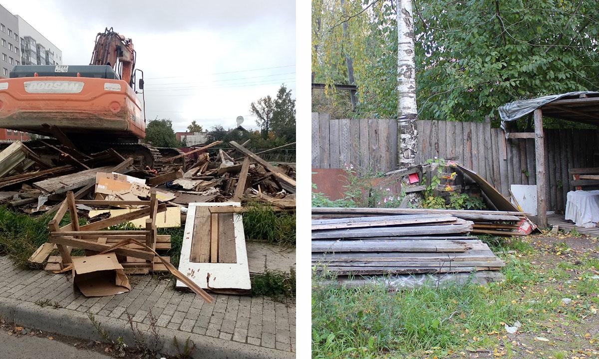 На месте снесенных без предупреждениям сараев администрация Петрозаводска пообещала поставить новые